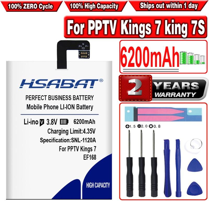 Batería HSABAT EF168 6200mAh para PPTV Kings 7 king 7S King7 PP6000 baterías herramientas gratis + regalo gratis