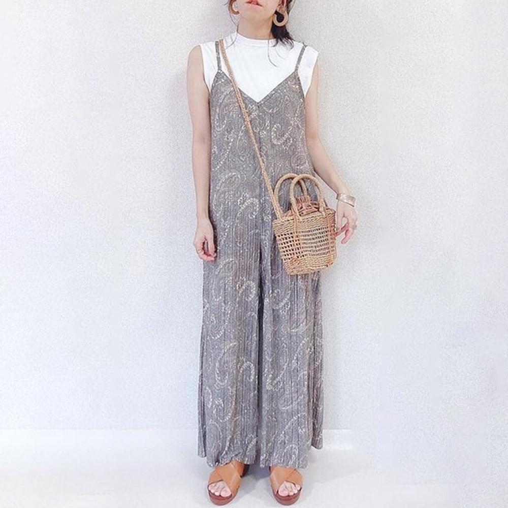 Japanese Style Plus Size Women's Summer New Printing Crimping Korean Fashion Temperament Loose Sling