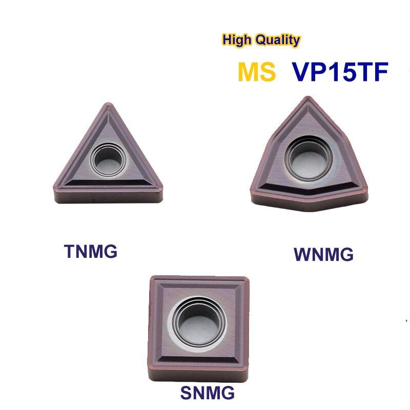 10 piezas WNMG080408 TNMG160404 TNMG160404 MS VP15TF insertos de carburo herramienta de torno de cuchilla de torneado de alta calidad