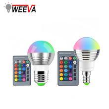 E27 E14 RGB LED Bulb Lamp 24key Remote Control Dimmable LED Night Light 110V 220V Holiday 3W 5W 10W Color Magic Spot Light