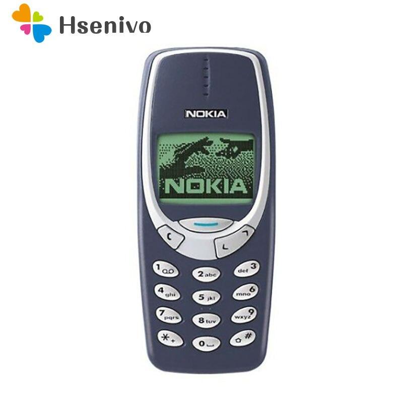 Nokia 3310 refurbished-Original 3310 phone unlocked GSM 900/1800 with russian& Arabic keyboard multi language 1 year warranty
