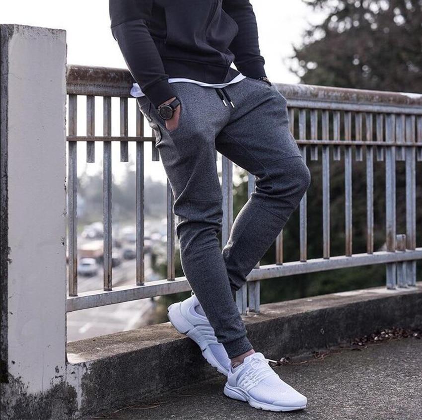 Newest Mens Sweatpants Autumn Winter Man Gyms Fitness Bodybuilding Joggers Workout Trousers Men Casual Cotton Pencil Pants