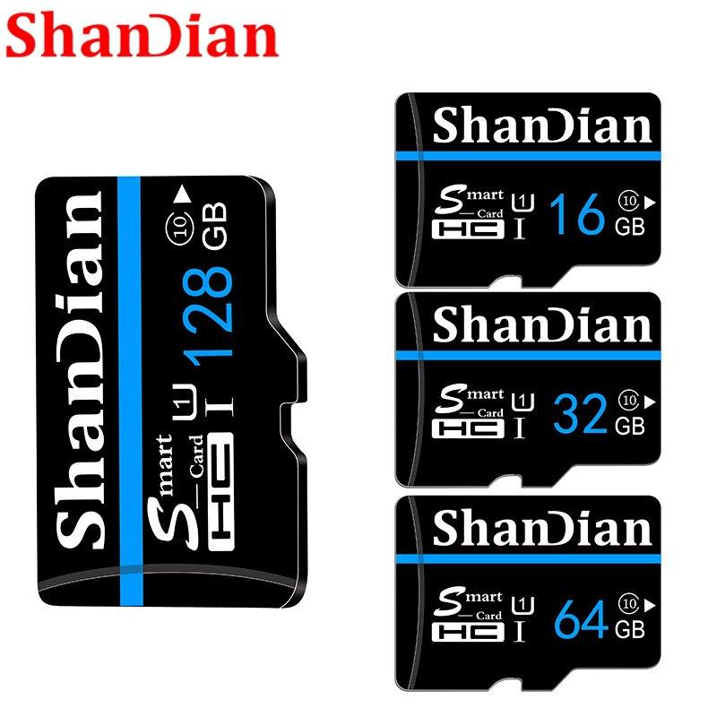 SHANDIAN Новое поступление карты микро sd TF слот для карт памяти 8 Гб оперативной памяти, 16 Гб встроенной памяти, 32 Гб 64 Гб микро sd cartao de memoria micro mini card + адаптер Карты памяти      АлиЭкспресс