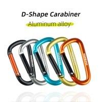 Карабин AceCamp D-образной формы для ключей, маленький алюминиевый брелок для ключей, многофункциональные уличные аксессуары, крючок для рюкза...