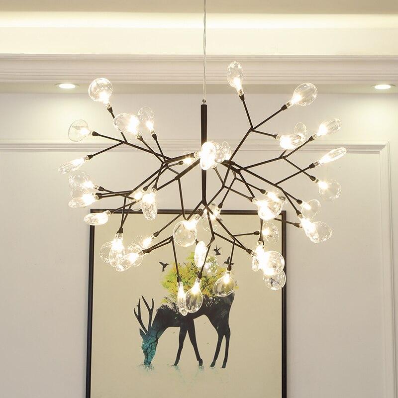 Современный Светлячок люстры висячие светильники Lusture светодиодный люстры для Гостиная Спальня Кухня Nordic дизайн светильник