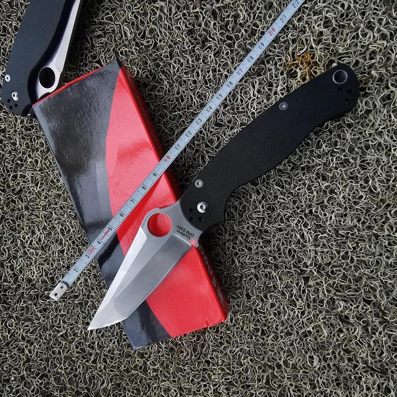 Складной нож TUNAFIRE C81T, тактический клинок из нейлона и стекловолокна, со стальным лезвием S30V, для выживания, кемпинга, повседневного использо...