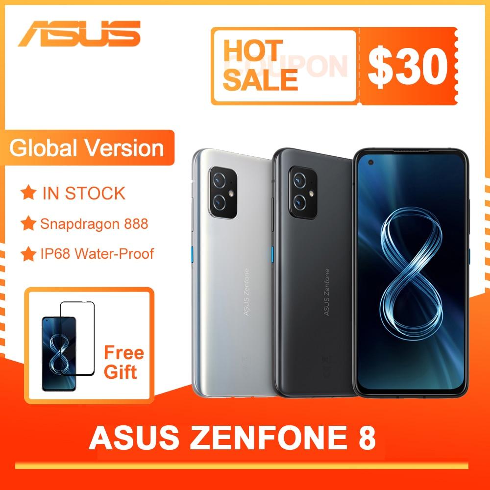 Новый ASUS Zenfone 8 глобальная версия Snapdragon 888 8/16GB Оперативная память 128/256 ГБ Встроенная память 5,92 дюйм IP68 воды-доказательство Android OTA 5G для мобильного...