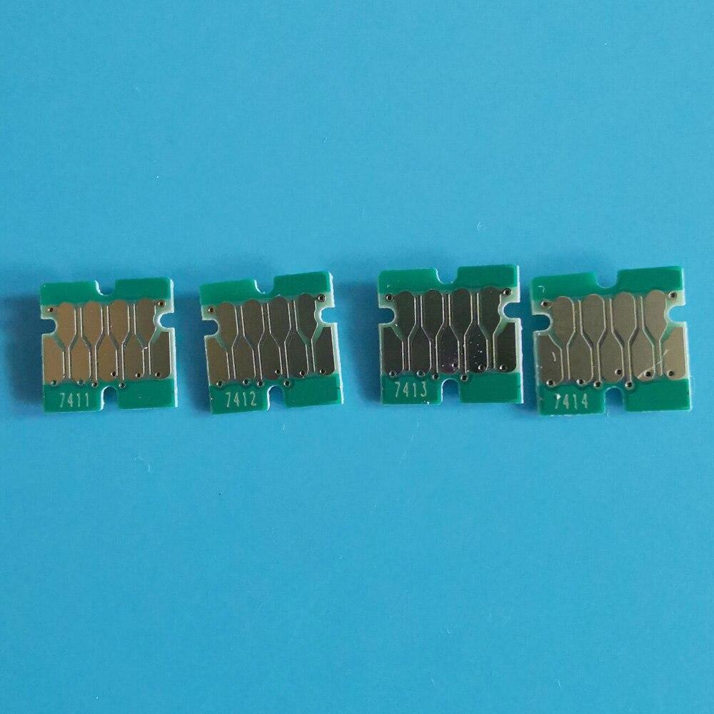 T7411/X-T7414 однократный чип для epson surecolor F6200 F7200 F9200 F9300 F6000 F7000 чернильный картридж с совершенно новым серийным номером