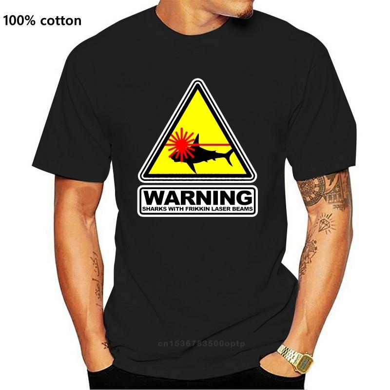 2021 Austin Powers Dr Evil Sharks with Frikkin Laser Beams Movie T-shirt men t shirt