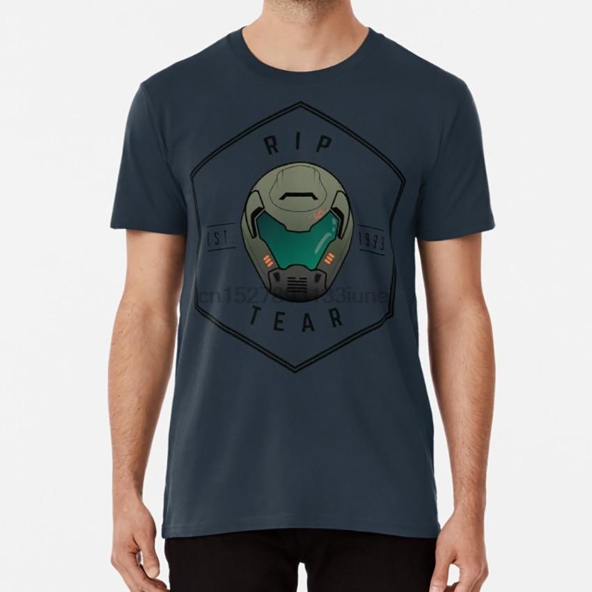 Doom Guy Helmet - RIP TEAR T shirt gaming games doom doom guy doom 2020