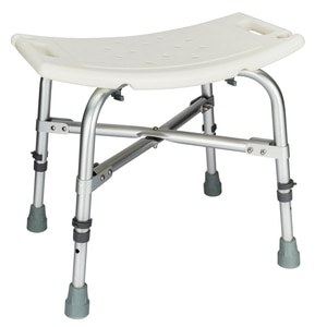 Bath Chair Bathroom stool Heavy Type Adjustable Aluminum Alloy Shower Chair for the Old/Pregnant White CST-3021