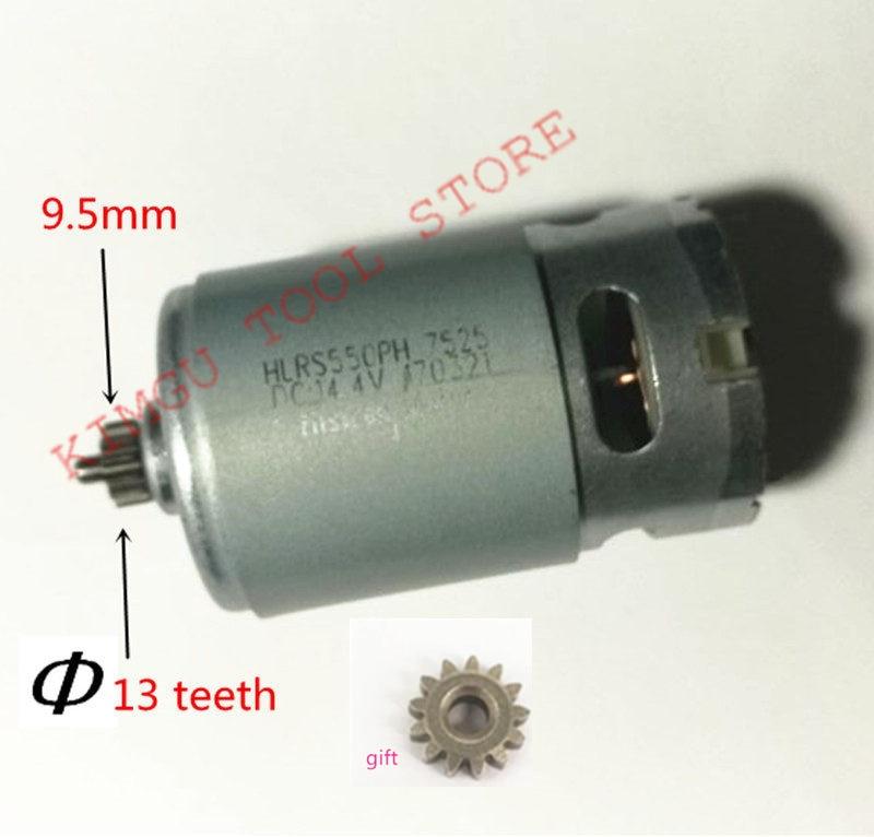 13 зубьев, 13 зубьев, двигатель 14,4 В, замена для BOSCH GSR14.4-2-LI PSR 14,4, Φ, GSR 14,4-2-li, двигатель для дрели