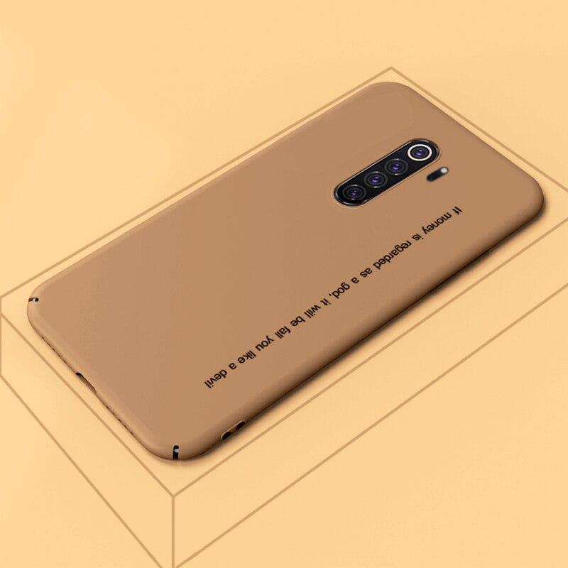 ADKO tacto suave colorido duro PC caso para Redmi Note 8 Ultra delgado a prueba de golpes mate cubierta Coque para Redmi Note 8 Pro
