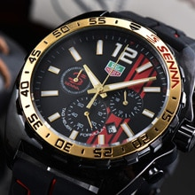 luxury watch mens watch quartz movement Silicone strap all functional small dial work stopwatch relo