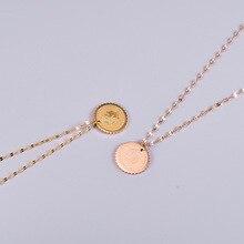 Collar de cabeza de reina de oro de 18K de Amaiyllis, collar con lentejuelas, collar de cadena de clavícula para mujer, joyería de verano de amistad