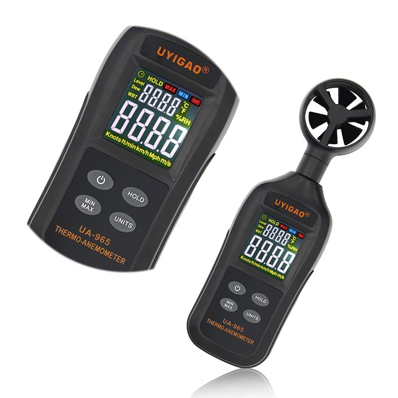 Цифровой анемометр с умным датчиком портативный ручной мини для измерения