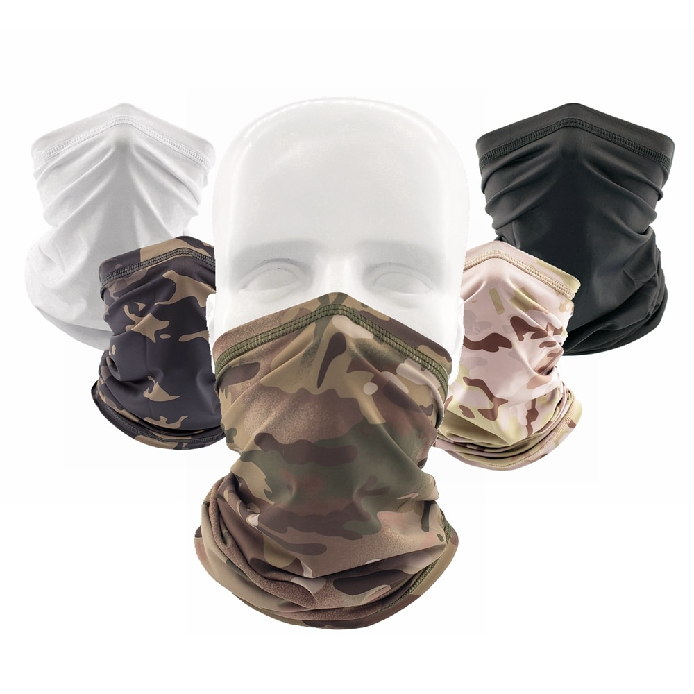 Outdoor Tactical Bandana Breathable Face Scarf Fishing Cycling Sport Soft Smooth Elastic Tube Neck Gaiter Cover Military Men skull magic facemask tactical scarf mask men women neck gaiter outdoor sport cycling hiking bandana headband 3d face cover