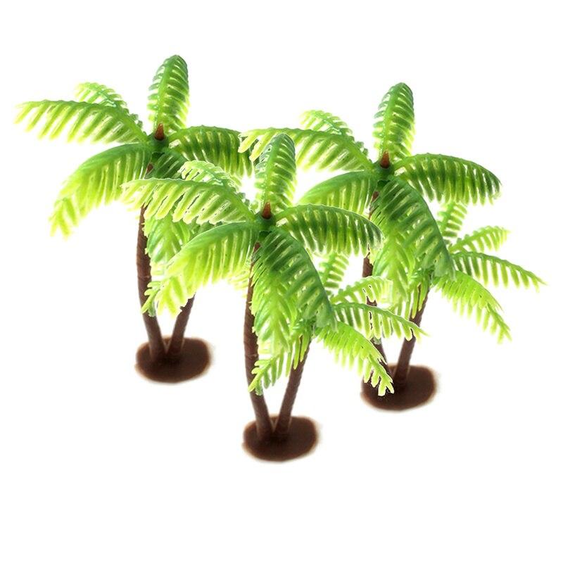 Macetas de plástico de palmera, hoja en miniatura, planta falsa, bonsái, Micro paisaje artesanal, plantas artificiales Para Decoración