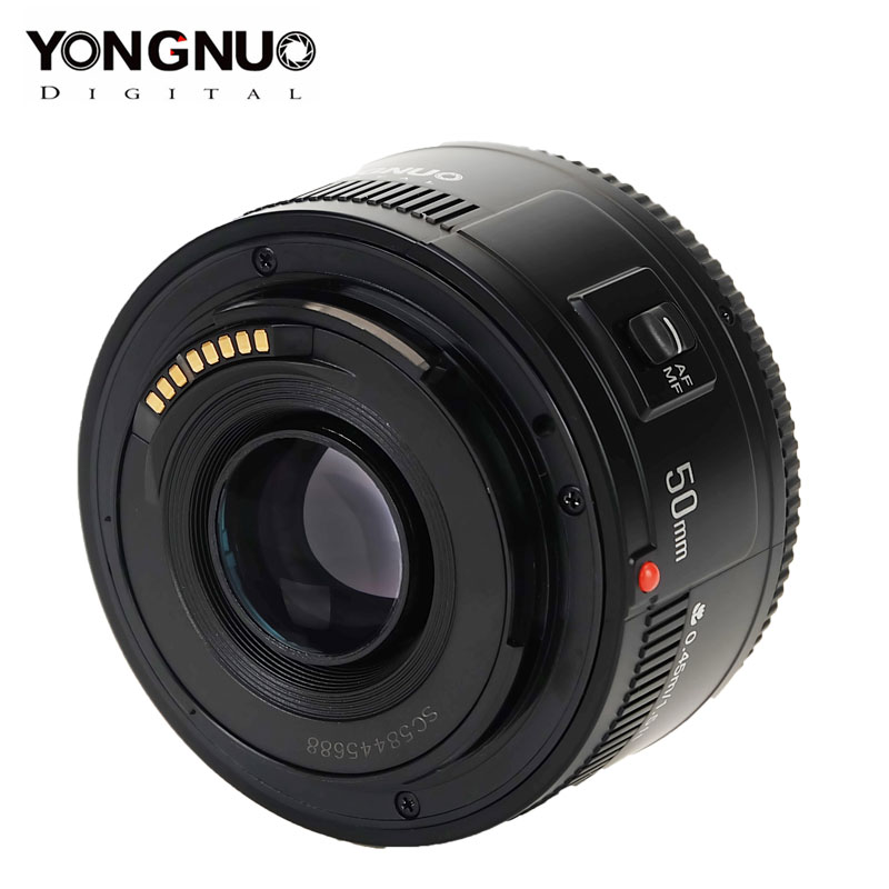 Yongnuo yn50mm f1.8 lente yn ef 50mm f1.8 ii af lente yn50 abertura lente de foco automático para canon eos 60d 70d 5d2 5d3 600d lente dslr