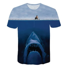 New fishing t shirt style casual Digital fish 3D Print t-shirt boys girls tshirt Summer Short Sleeve O-neck Tops 2020 hot sale