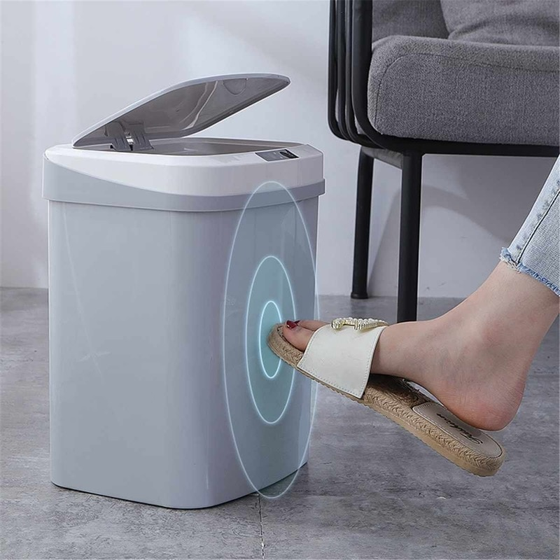 15L Induction Automatic Touchless Smart Infrared Motion Sensor Rubbish Waste Bin Kitchen Trash Can Garbage Bins for Home Car недорого