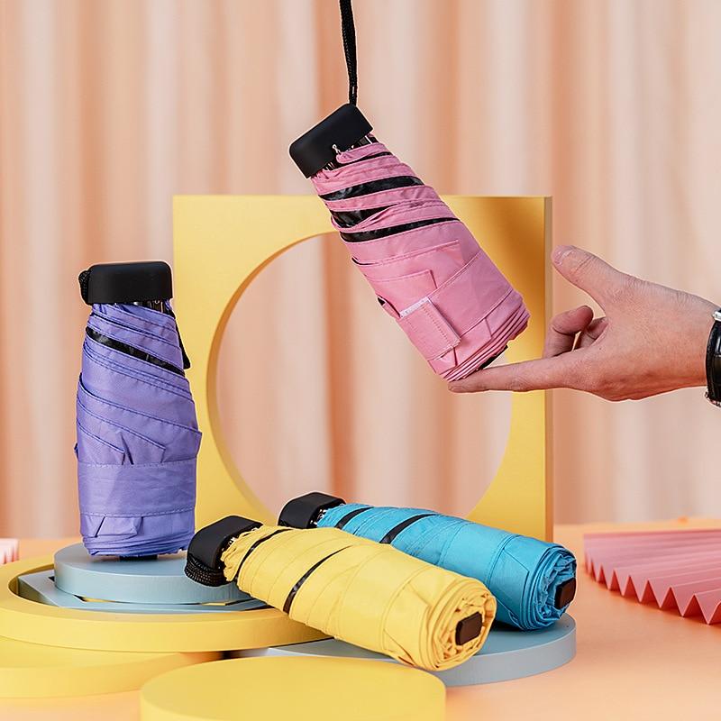 Pocket Sun Umbrella Small Mini Umbrella Vinyl Umbrella Pocket Sun Protection And Ultraviolet Protection Parasol Rain Tool