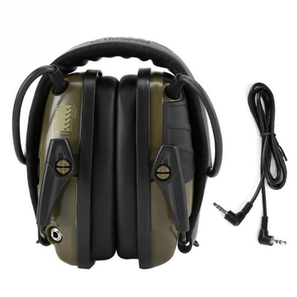 الأخضر إلكتروني اطلاق النار سماعات الأذن الرياضة في الهواء الطلق مكافحة الضوضاء سماعة تأثير تضخيم الصوت السمع سماعة واقية