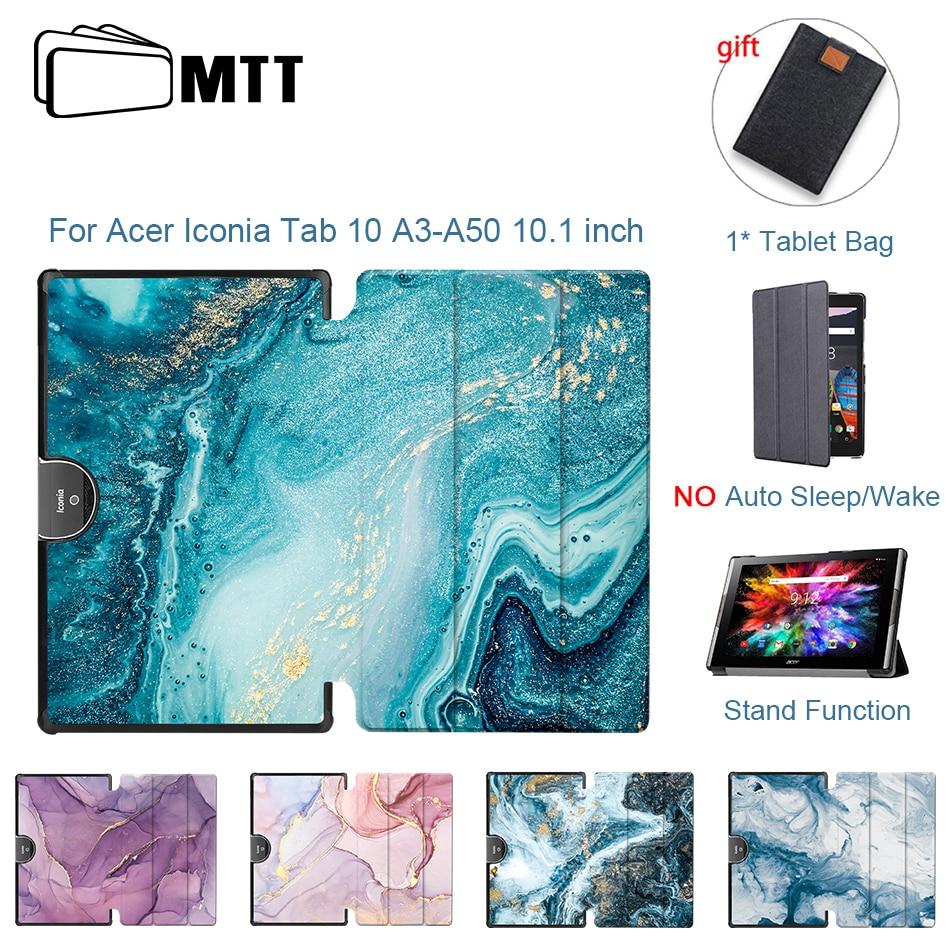 MTT-Funda de piel sintética de mármol para tableta Acer Iconia Tab, 10...