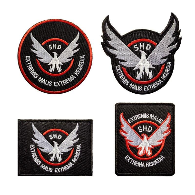 T-N todo o bloqueio da divisão bordado braçadeira velcro mochila adesivos boné emblema remendo tático adesivos de pano apliques
