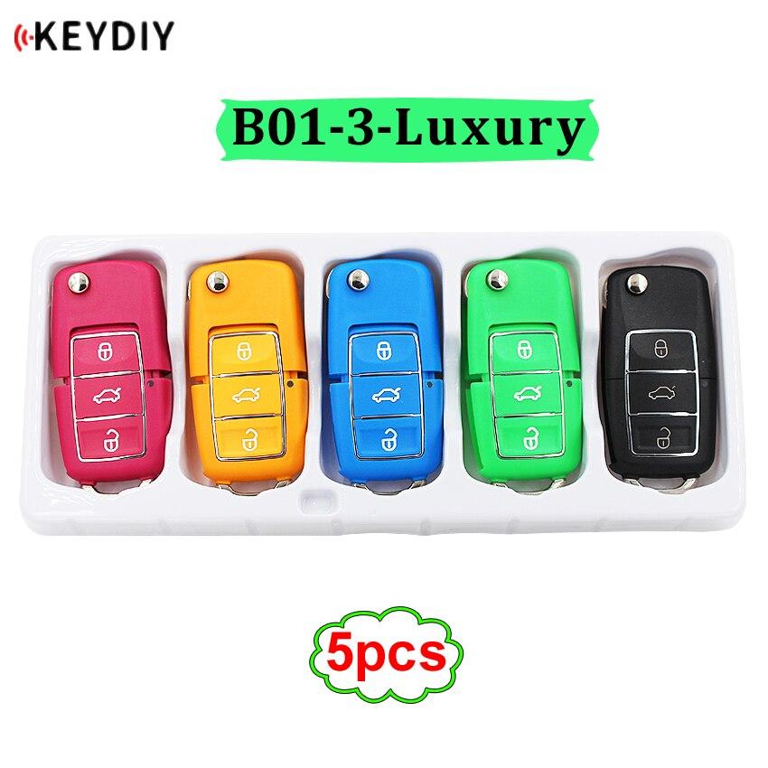 5 unids/lote B01-3 control remoto universal de lujo de la serie B para KD200/KD300/KD900/URG200/mini KD generar nuevas llaves de diferentes colores