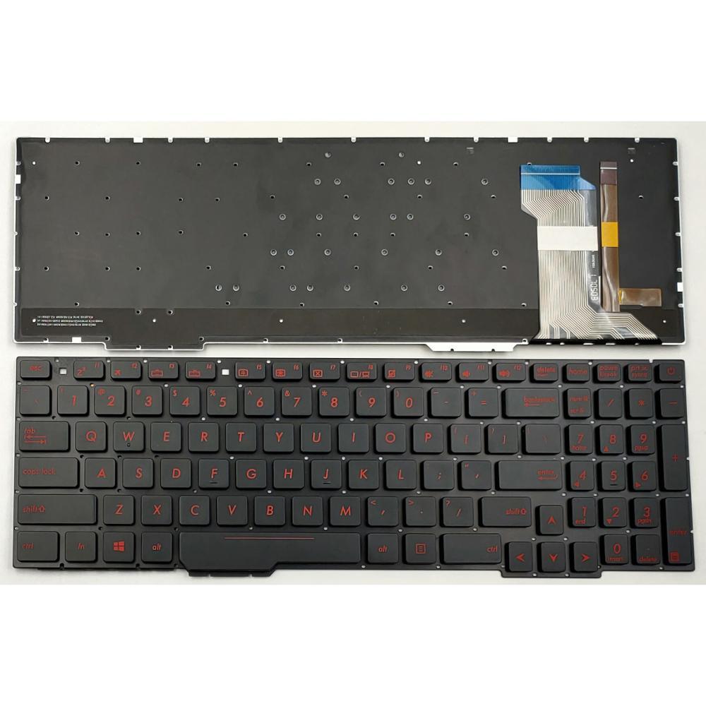 Новинка Клавиатура для ноутбука Asus ROG FX553VD FX553VE FX753VD FX753VE FZ53VD ZX53VD ZX53VE ZX53VW ZX73VD US клавиатура с подсветкой