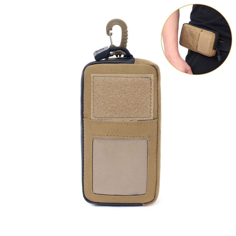 Cartera militar táctica para exteriores, bolso para tarjetas, resistente al agua, con cremallera, paquete de soporte para llaves, monedero multifunción para caza, riñonera