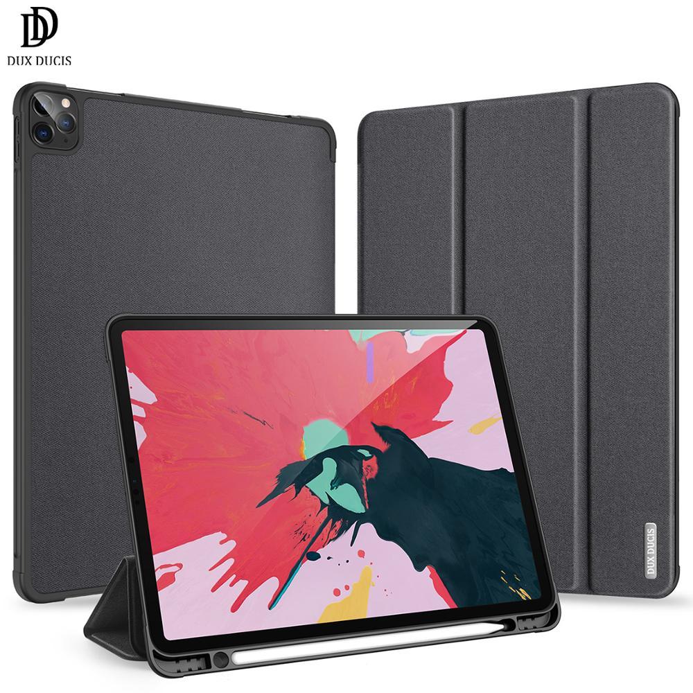 DUX DUCIS Flip Fall Für Apple iPad Pro 11 2020 Faltbare Ständer Shock-proof Anti-knock Volle Abdeckung mit Apple Bleistift Halter Slot