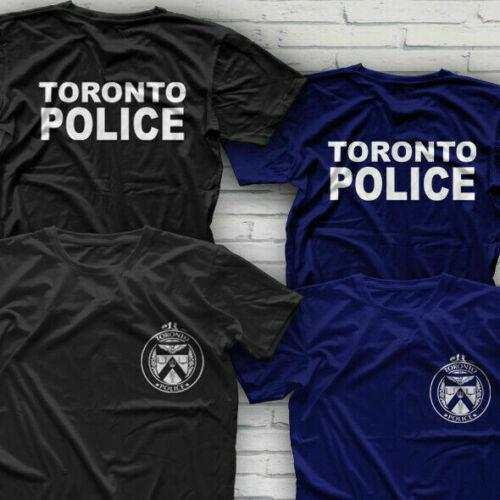 Servicio de policía Departamento de Bomberos TORONTO camiseta tamaño S-3XL 2 lados