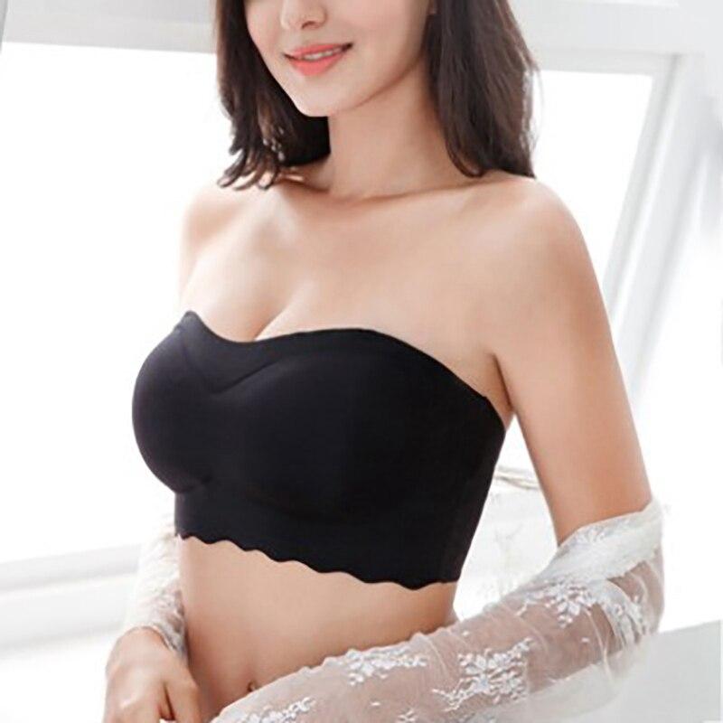 Sutiã sem alças plus tamanho sutiãs para roupa interior feminina invisível push up sexy bralette