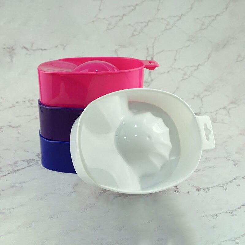1pcs Nail Art Hand Wash Remover Soak Bowl DIY Salon Nail Spa Bath Treatment Manicure Tools Nail Spa