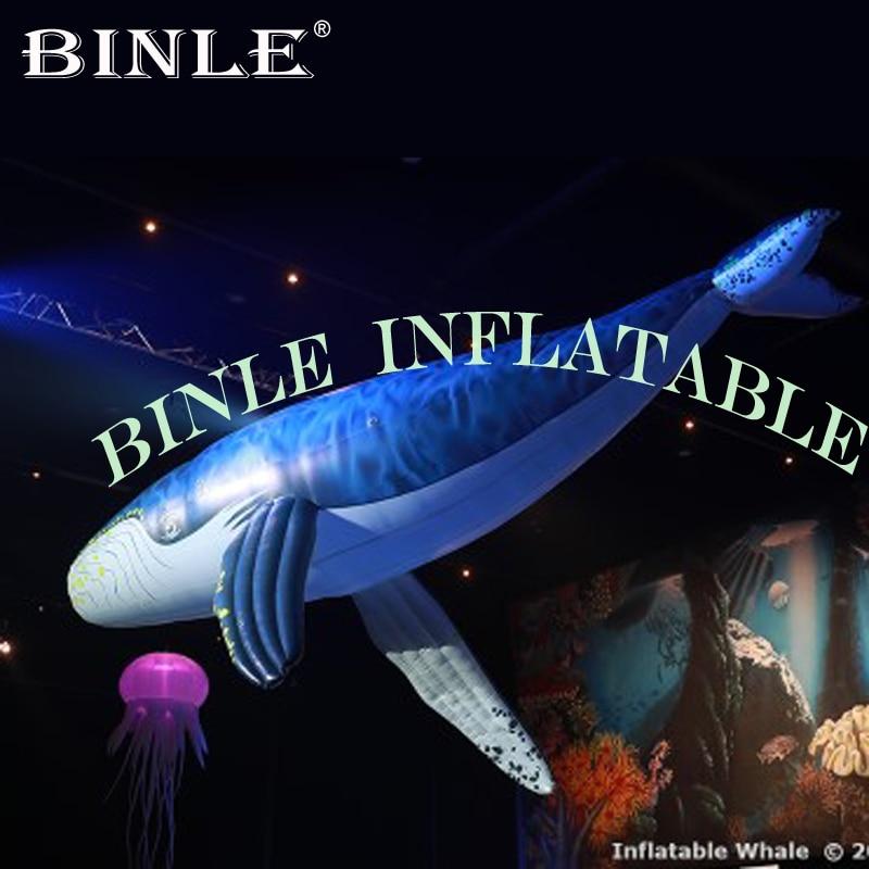 ¡Superventas! Ballena inflable gigante con tema oceánico de 8m de largo para fiesta, supermercado, evento navideño, decoración colgante de animales