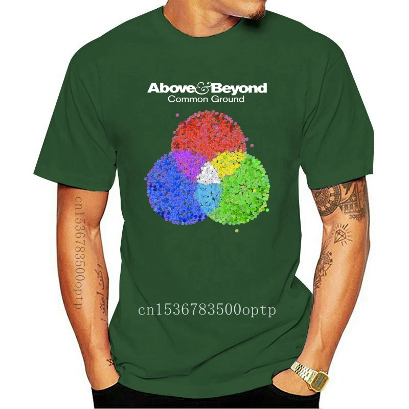 New Above and Beyond Common Ground Men BLACK WHITE T-SHIRT XS-3XL Cool Casual pride t shirt men Unisex 2021 Fashion tshirt Loos