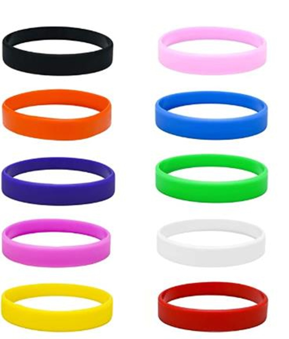 5pcs of juyi jyqd Silicone Wristbands Pack of 5PCS With Colors Options