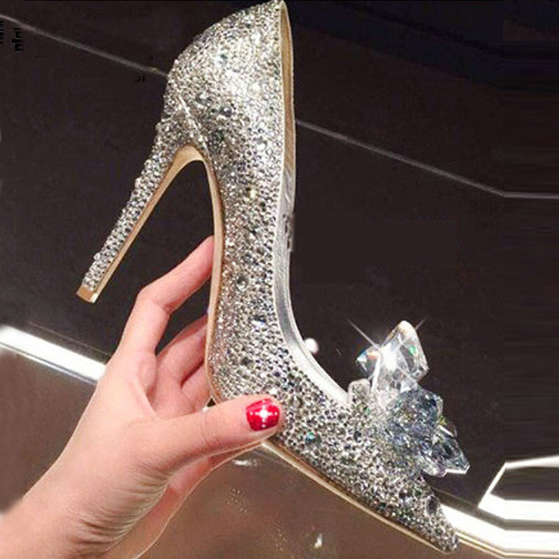 Zapatos de boda de diamantes para mujer, nuevos zapatos de diamantes de...