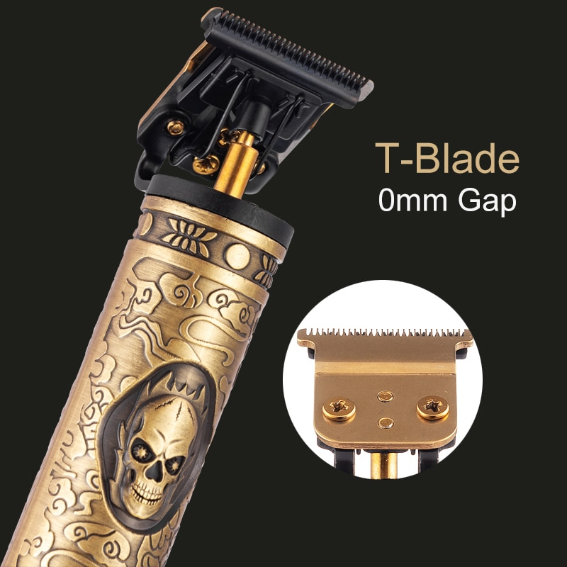 Zero gapped T blade cordless hair clippers 2000mAh barber trimmers shaver salon beard shaving machine USB rechargeable cutting enlarge
