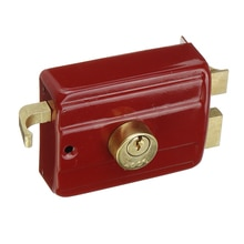 Anti Theft Bedroom Strong Easy Install Universal Heavy Duty Red Home Security Indoor Accessory Door Lock Professional Deadbolt