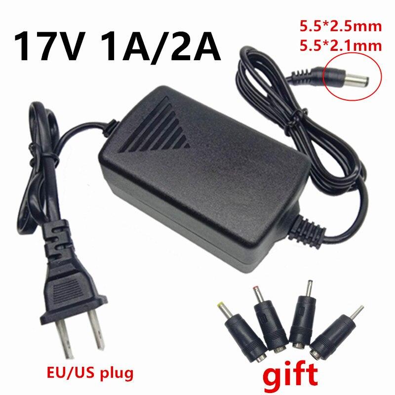 17V1A 17V2A Ac Dc Adapter 17 V Adapter Eu Ons Universele Voeding 17 Volt Dc Adapter 4 Stuks dc Pluggen 5.5X2.1Mm Dc Jack