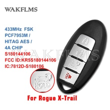 4 кнопки ключ смарт-карты 433 МГц для Nissan Rogue US X-Trail Южная Азия 2014 2015 2016 с PCF7953 HITAG AES chip KR5S180144106