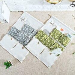 Snailhouse parede pendurado sacos de armazenamento algodão linho porta organizador à prova dwaterproof água bolsa quarto recipiente escritório em casa decoração