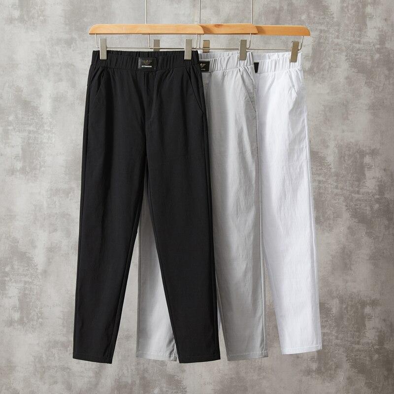Укороченные брюки, новые мужские костюмные брюки, повседневные офисные брюки, деловые брюки, мужские брюки, повседневные брюки