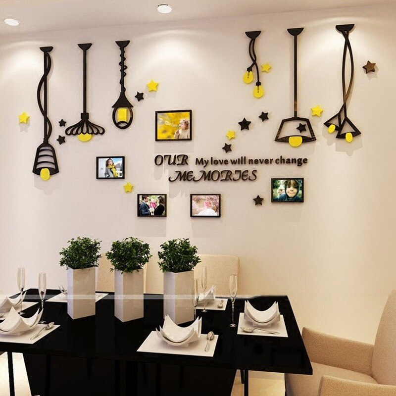 Adhesivos para marcos de pared creativos de acrílico con diseño de araña para decoración de dormitorio infantil y sofá, calcomanía de pared para pared o cocina
