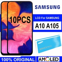 "10 TEILE/LOS 6.2 ""Display mit rahmen für SAMSUNG Galaxy A10 A105 A105F SM-A105F LCD Touch Screen Digitizer Montage Ersatz"