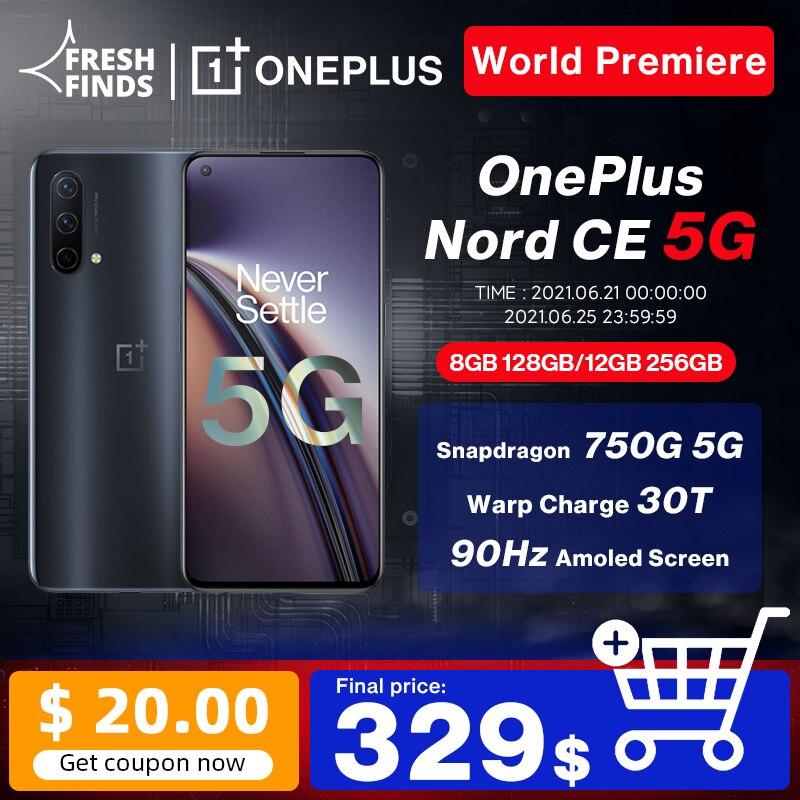 Перейти на Алиэкспресс и купить Чехол из ПВХ для OnePlus Nord CE 5G смартфон 8 ГБ 128 и 12 Гб 256GBSnapdrago 750G Warp заряжайте 30T Plus 4500 мА/ч, 90 Гц активно-матричные осид, официальный
