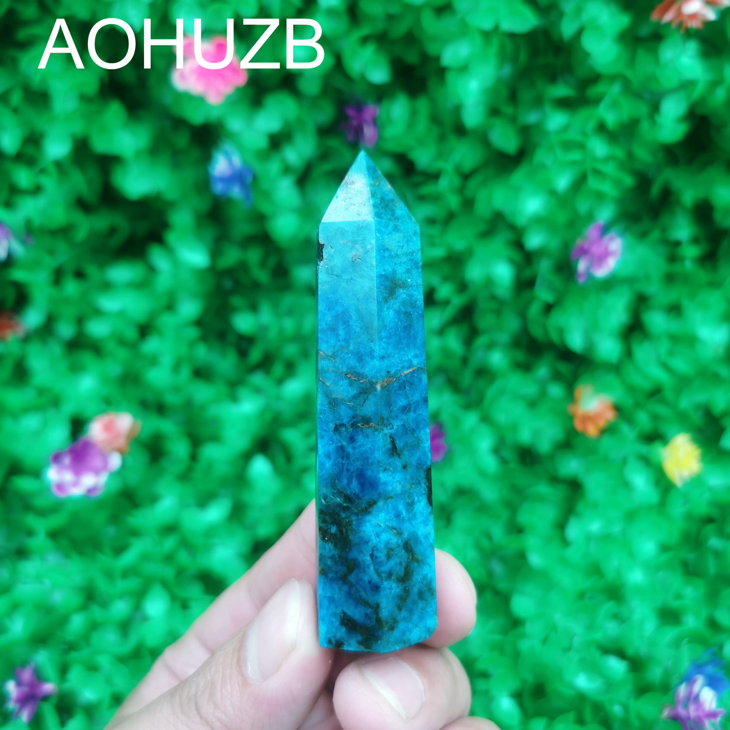 Natural Crystals Quartz High Quality Blue apatite Points Tower Energy Reiki Healing Room Home Office Decoration Gemstone